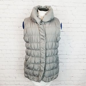 Coldwater Creek|Cozy Down Gray Quilted Puffer Vest